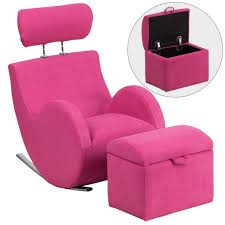 best of pink storage ottoman with hercules kids rocking chair and
