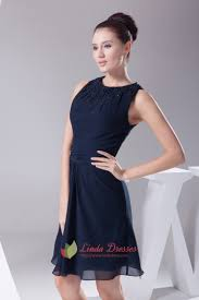 navy blue chiffon cocktail dress chiffon dress with beaded