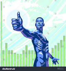 futuristic style concept illustration futuristic style man making stock vector
