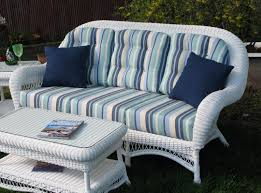 White Resin Wicker Loveseat Outdoor Wicker Sofa Manchester Wicker Sofa Spaces And Room
