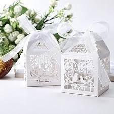 wedding favor boxes 50pcs laser cut bird favor boxes 2 x2 x2 candy