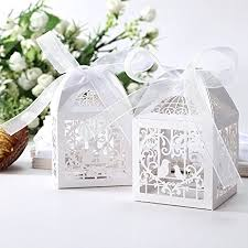wedding favor box 50pcs laser cut bird favor boxes 2 x2 x2 candy
