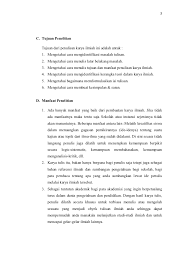 cara menulis latarbelakang skripsi contoh makalah bi
