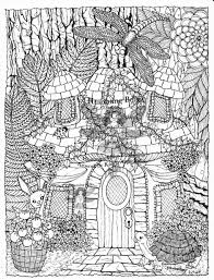 zen fairy house zentangle asa u0027s and coloring pages pinterest