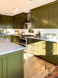 is green a kitchen color olive green kitchen cabinets painted by payne