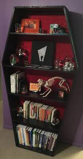 this listing is for your coffin bookshelf with fabric and