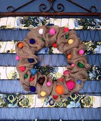 Home Decor With Burlap Make A Burlap Ribbon Wreath U0026 Decorate One Wreath For All Seasons