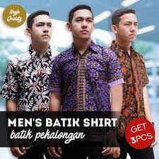 qoo10 get 3 pcs mens batik shirt collections high quality