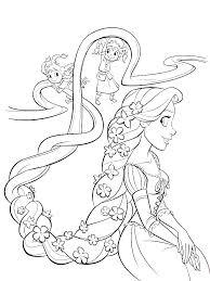 rapunzel coloring pages print coloring