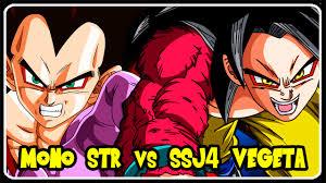 ssj4 goku vs ssj4 vegeta mono str vs super 2 super saiyan 4