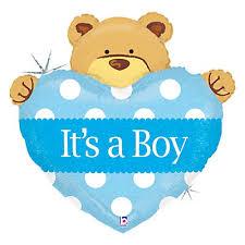 teddy themed baby shower boy teddy baby shower mylar balloon bigdotofhappiness