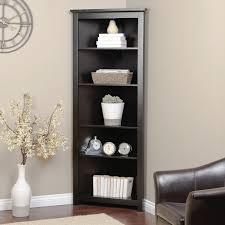 Wood Corner Bookcase Bookshelf Black Corner Display Shelf In Conjunction With Black