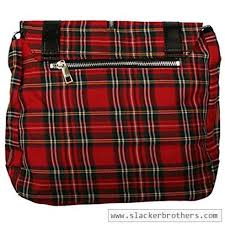plaid vs tartan red tartan plaid print punk messenger cross body handbag purse