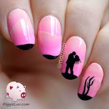 nail art pink nail art design baby designs and white cute artpink
