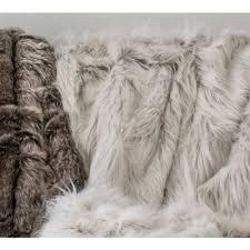 Faux Fox Fur Throw Silver Fox Faux Fur Throw Luxury Throw