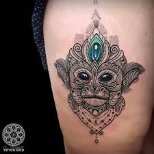 collection of 25 monkey with aries head tattoo design