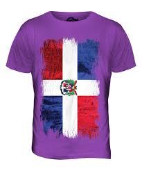 Dominican Republic Flag Dominican Republic Grunge Flag Mens T Shirt Tee Top República