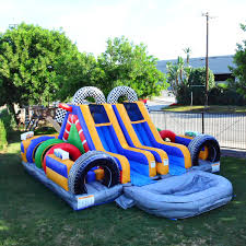 obstacle game bounce house castle castle house boy party