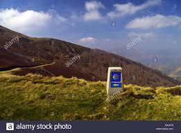 camino compostela el camino de santiago de compostela shell waysign in the pyrenees