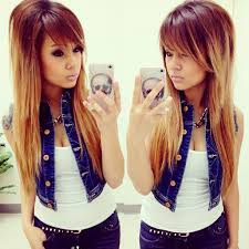 short on top long on bottom hairstyles ombre hair color light on top dark on bottom ombre hairstyle