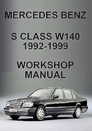 mercedes car manual mercedes s class repair manual ebay