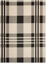 Black And White Outdoor Rug Black Bone Plaid Outdoor Rug Safavieh