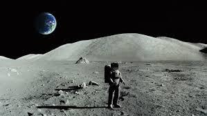 astronaut doing ballet on the moon stock footage