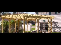 Building Your Own Pergola by Build Your Own Pergola For 700 Bucks Youtube