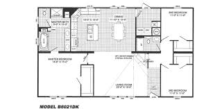 open style floor plans 3 bedroom floor plan b 6021 hawks homes manufactured