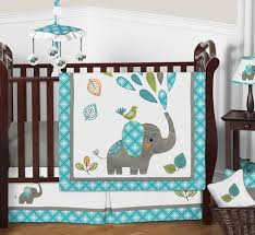 Green Elephant Crib Bedding Mod Elephant Baby Bedding 4pc Boy Or Crib Set By Sweet Jojo