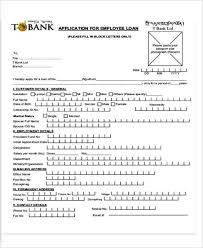 basic employee loan application template templatezet