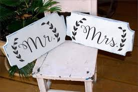 Mr And Mrs Wedding Signs Mr And Mrs Wedding Signs Stencils 5 Sizes Create Your Own