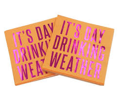 pack of 20 3 ply foil u0027it u0027s day drinking weather u0027 cocktail party