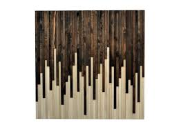 wood wall reclaimed wood sculpture drip design