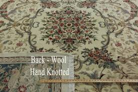 11 X 11 Area Rug Savonnerie 11 X 15 European Design Ivory Blue Hand Knotted Floral
