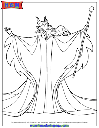 walt disney sleeping beauty villain maleficent coloring