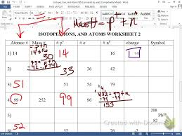 Counting Atoms Worksheet 1 Ions Isotopes Atoms Worksheet