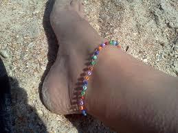 beaded ankle bracelet images Beaded ankle bracelet hippiefreak beads jpg