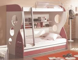 Mokki Childrens Furniture Girls - Pink bunk beds for kids