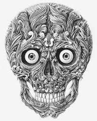 Amazing Skull - skull by alex konahin dip pen dips and behance