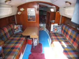Sailboat Interior Ideas 1975 Capital Yachts Newport 28 Sailboat For Sale In California