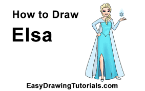 draw elsa body frozen