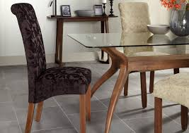 kingston brown leather dining chair with walnut legs oak city