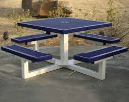 Picnic Table Frame Stylish Wooden Picnic Tables For Vacation Inhabit Zone