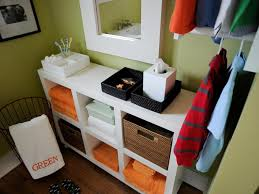 small table with shelves small bathroom storage solutions diy