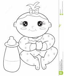 baby coloring page stock illustration for pages omeletta me