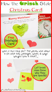 how the grinch stole christmas printable card