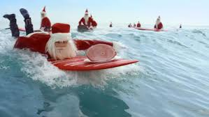 aldi perfect aussie christmas with surfing santas the