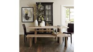 crate and barrel dining table set dakota 77 dining table crates barrels and dark wood