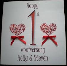 happy wedding anniversary personalised card 1st 2nd 3rd 25th 30th